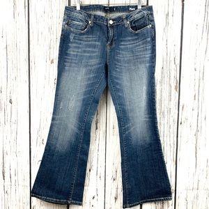 Vigoss Distressed Flare Leg Jean